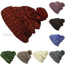 Pom Pom Baggy Knit Beanie Men's Women's Winter Hat Ski Fashion Ski Cap New