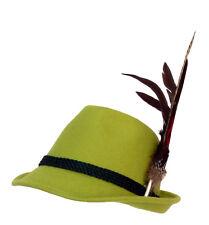 Trachtenhut apfelgrün mit edler großer Feder