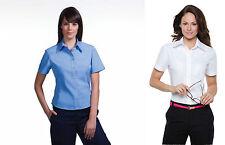 LADIES WOMENS KUSTOM KIT KK720 OFFICE BUSINESS WORKWEAR S / SLEEVE SHIRT BLOUSE