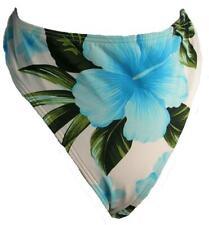 Island Escape White, Blue & Green Flowered Womens Hipster Swim Bottom