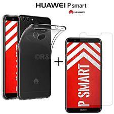 COVER per Huawei P Smart CUSTODIA Tpu + PELLICOLA VETRO TEMPERATO