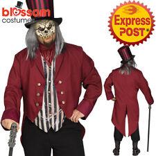 CA450 Mens Freak Show Ringmaster Circus Killer Clown Scary Halloween Costume