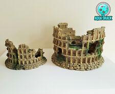 Aquarium Ornament Roman Amphitheatre Colosseum Hiding Cave Decoration Fish Tank