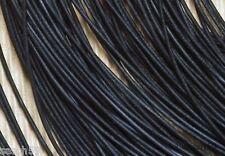 Lederband Lederbänder 1,3mm Ziege Leder schwarz rund 1m