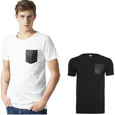 Urban Classics Leather Imitation Pocket Tee T Shirt XS S M L XL XXL