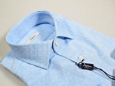 Camicia Ingram Slim Fit Cotone stampato a Pois collo mezzo francese in 4 Colori
