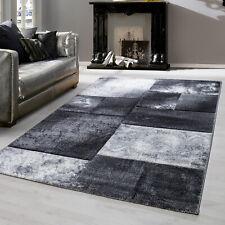 Teppiche modern designer für Wohnzimmer, kurzflor meliert kariert Sand Motiv 3 D