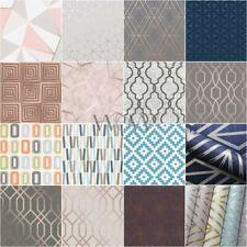 Geometrische Tapeten - metallisch Spalier Quadrate Marmor Kork Strass Retro