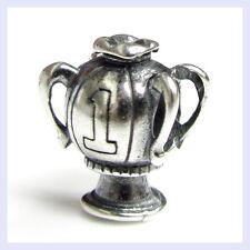 .925 STR Silver Winning Number 1 Trophy Award Bead for European Charm Bracelet