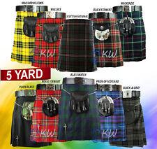 New Handmade Scottish Mens Kilt Traditional Highland Tartan Kilt