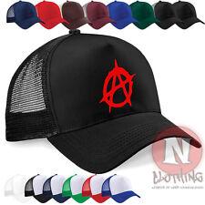 Anarchy punk chaos retro Sex Pistols Half mesh retro trucker baseball cap hat
