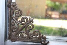 "Victorian Window Corner Accent, Vintage Look cast Iron, Brown, 3 7/8"", B-27"