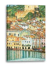 Lein-Wand-Bild Kunstdruck: Gustav Klimt - Malcesine am Gardasee (1913)