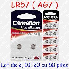 Pile Bouton LR Alcaline 1,5V : AG7 LR57 LR926 395 ( lot de 2, 10, 20 ou 50 )