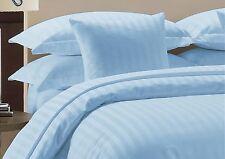 L Blue Stripe Extra Deep PKT 1Fitted Sheet + 2Pillow Case 100%Cotton 1000TC.