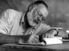 Ernest Hemingway Writer Glasses Drafts Notes BW Giant Print POSTER Affiche