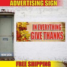 Give Thanks Advertising Banner Vinyl Sign Flag Thanksgiving autumn Lord pumpkin
