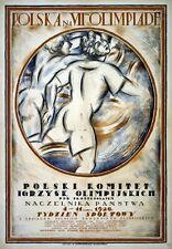 Az23 vintage 1920 7e JEUX OLYMPIQUES POLOGNE polonais Poster Imprimer A1 / A2 / A3 / A4