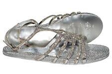 Alma EN Pena 605 Spain womens silver sandals with swarovski element