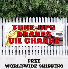 Banner Vinyl TUNE UPS BRAKES OIL CHANGE Advertising Sign Flag Car Auto A/C Tire