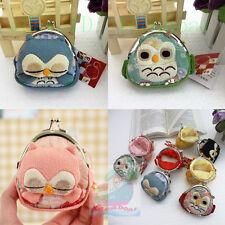 1/3/6/12PCS Mixed cute Owl Shaped Clutch Change Coin Bag Purse Wallet wholesale