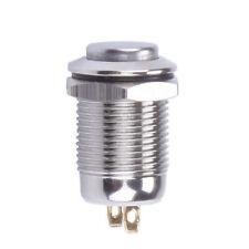 12MM stainless steel metal button waterproof switch 2 feet reset jog button