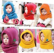 Blue Red Yellow Purple Orange Boy Kid Child Scarf Hood Hat Scarf New Neckerchief