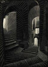 Escher atrani print on canvas giclee 8X12&12X17 art reproduction poster