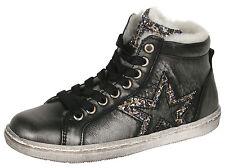 Zecchino d'Oro F12-4222 5066 Sneaker mit Stern Silber Leder Lammfell 30-36 Neu