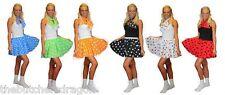 """Polka Dot 15"""" Rock n Roll Skirt Neck Tie Book Week Childs Adults Fancy Dress"""
