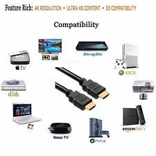 0.5M-15M FLAT HDMI CABLE FULL HD 4K 3D v2.0 FOR PS3 PS4 PRO WII U XBOX ONE S X