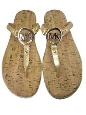 MICHAEL KORS Women's Jelly Cork Sandals Flip Flops Bronze Gold Sz 6,7,8,9,10,11