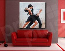 Tango Dancers Digital Painting Dance Canvas Art Poster Print Home Decor
