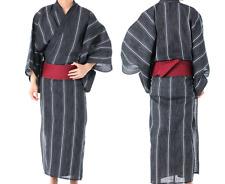 Japanisch Herren Traditionell Yukata Sommer Kimono Jacke Japan C-4 Schwarz