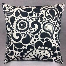 Handmade BLACK FLOWERS 100% Cotton Cushion Cover Various sizes