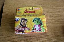 Minimates Wonder Man & She-hulk Marvel Figura Los Vengadores Pack 2