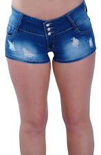 Womens Extra Mini Micro Denim Jeans Skinny Fit Stretch Ladies Shorts