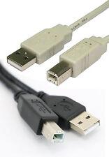 USB 2.0 A to B PRINTER CABLE Black / Grey  0.5m 1m 1.8m 3m 5m