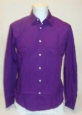 MEXX chemise à manches longues pour hommes Business de Loisirs col kent Violet