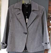 Talbots Cotton Blend Black & White Check Jacket Blazer PLUS & PETITES NWT