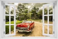 3D Wandillusion Wandbild FOTOTAPETE Poster Fensterblick Landschaft Cuba  kr-31