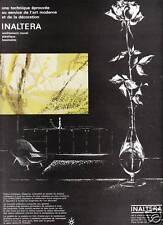 Publicité ancienne revêtement mural Inaltéra 1963 issue de magazine