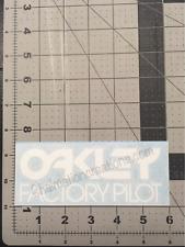 New Oakley Factory Pilot Vinyl Decal Rub On Die Cut