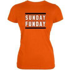 Sunday Funday Cincinnati Orange Juniors Soft T-Shirt