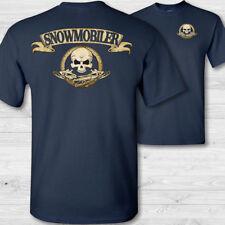 Snowmobile crossbones t-shirt snowmobiler skull shirt snowmobiling badge shirts