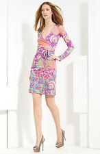 Blumarine 'Aztec' Silk Jersey Dress (size I 46/ D 40)