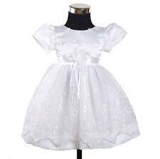 Blanco Fiesta De Bautizo Vestido Para Niña Flores 3-6 to 12-18 meses