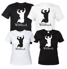 Thanks Wikipedia - Maglietta Divertente Neolaureato T-Shirt Laurea Donna Uomo