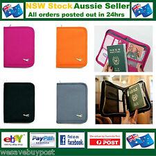 Travel Wallet Passport Holder Organizer Credit ID Card FREE RFID Passport Sleeve