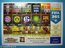 Panini Adrenalyn XL FIFA 365 - Team Logos, Team Mate., Alle Karten Nr. 103 – 153